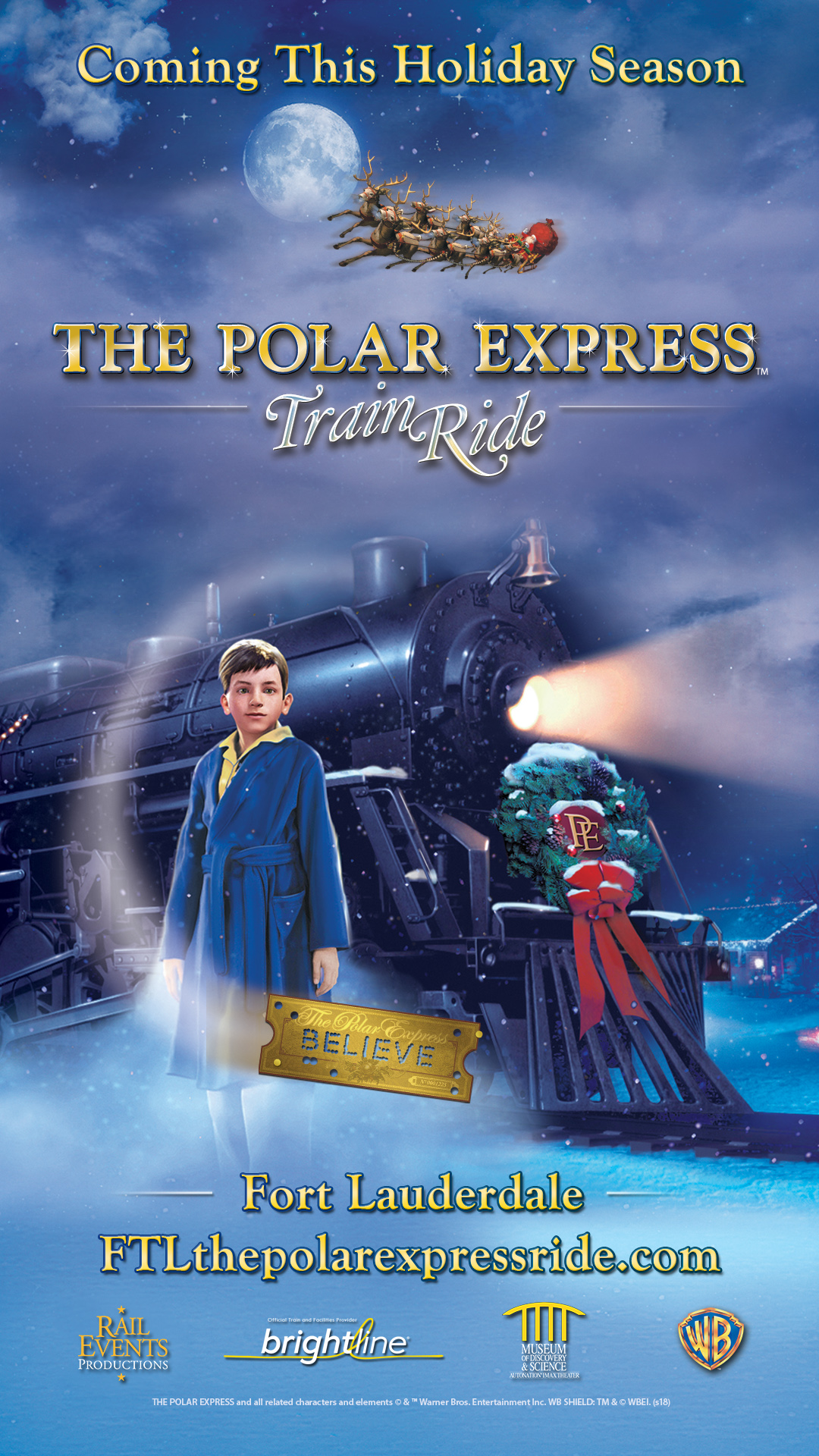Auditions for THE POLAR EXPRESS™ Train Ride in Fort Lauderdale